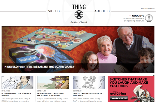 Thing X website