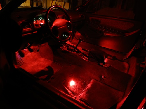 Red LED Interior Glow
