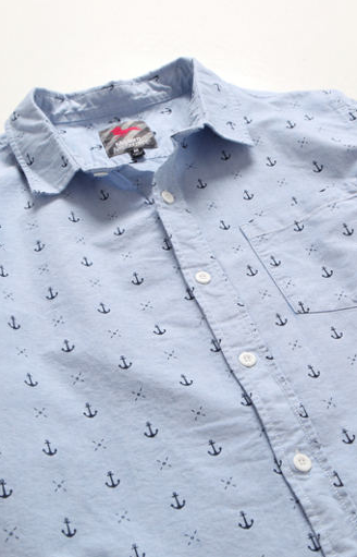 Modern Amusement Anchor LS button up