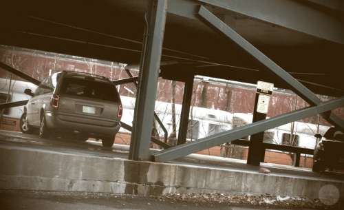 Orange Line with Parking Structure in Malden