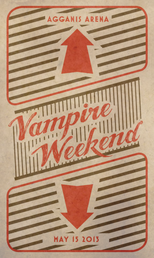Vampire Weekend poster inspired by Sheppard Faire