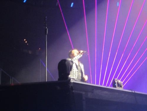 Matt with purple lasers